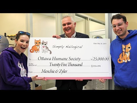 GIVING $25,000 TO CHARITY!