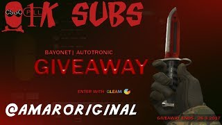 Bayonet | Autotronic Giveaway @1,000 SUBS !!!! - Video Youtube