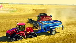 Wheat Harvest 2017 Ponoka Alberta Canada Shot by DJI  mavic pro 4K