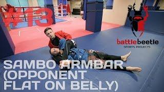SAMBO ARMBAR (OPPONENT FLAT ON BELLY) - BATTLE BEETLE TUTORIAL # 13