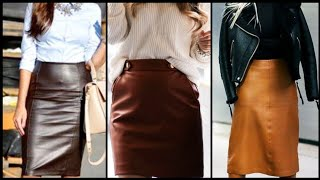 Vintage 2020 Midi Leather Skirts Collection