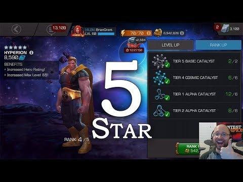 5-Star Hyperion Rank 5 + ROL SpeedrunMarvel Contest of Champions