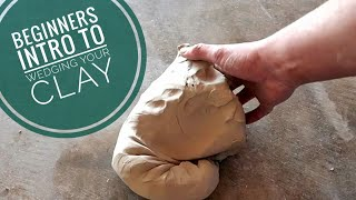 Beginners Intro To Wedging Your Clay.