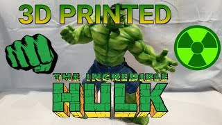 3D Printed 15'' Hulk [Time-Lapse] AirBrush+Jeans   Now ARTFX Statue