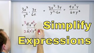 01 - Simplify Expressions W/ Exponents In Algebra (Quotients Of Monomials) - Part 1