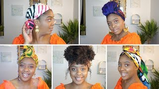 How To: Quick & Easy Headwrap/Turban Tutorial | 5 Different Styles