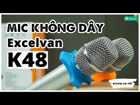 Mic không dây Excelvan k48| Siêu phẩm Mic Karaoke cho loa di động
