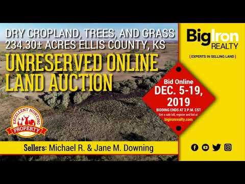 Land Auction 234.30+/- Acres Ellis County, Kansas