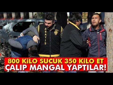 Kasaptan 800 Kilo Sucuk, 350 Kilo Et Çalıp
