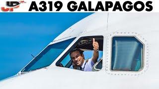 Piloting Airbus A319 Guayaquil to Galapagos Islands | Cockpit Views