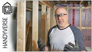 Framing Basement Walls - Laundry Room Makeover: Part 4