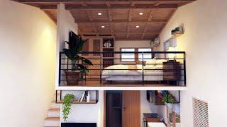 4 x 6 Meter House Design  with Loft ( 258 Sqft )