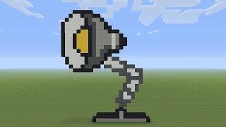 Minecraft Pixel Art - Pixar Lamp Luxo Jr