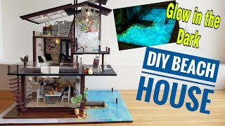 DIY Glow in the Dark Miniature Beach House