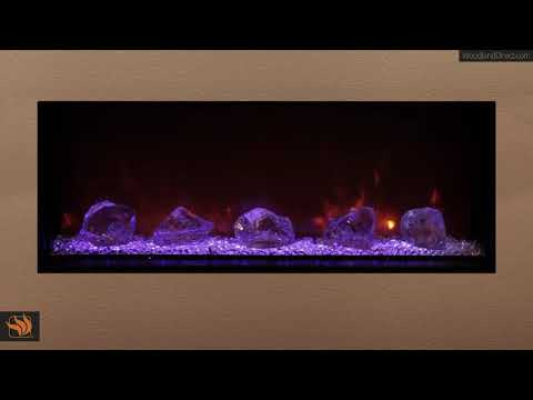 Landscape Series Fireplace with Glass Embers