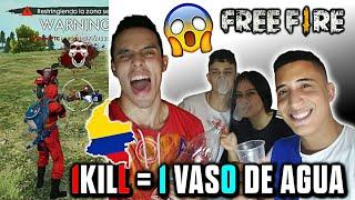 1 VASO DE AGUA POR CADA KILL (RETO CON MIS AMIGOS) •FREE FIRE•