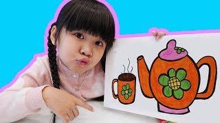 Bé Bún Tô Màu Ấm Trà – Coloring Teapot