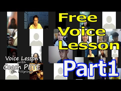 Free Voice Lesson for my subscribers Part 1