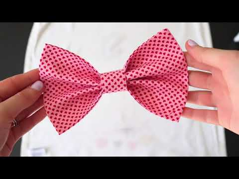 Easy No Sew Dog Bowties (instructions for sewing included)