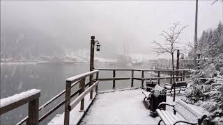 بحيرة اوزنجول مع تساقط الثلوج