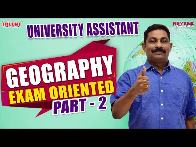 Most Expected Geography Questions for University Assistant Exam