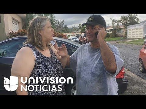 """""""Llama a los demás"""": padres en Puerto Rico avisan a su familia en EEUU que están bien"""