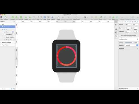 Design apple watch in sketch