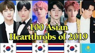 TOP  100 IDOL ĐẸP TRAI NHẤT CHÂU Á NĂM 2019 TOP 100 ASIAN  HEARTTHROBS OF 2019