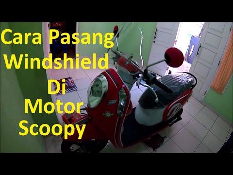 Video Cara Pasang Windshield di Motor Honda Scoopy