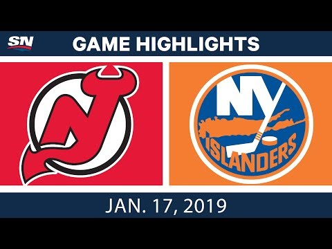 NHL Highlights | Devils vs. Islanders - Jan. 17, 2019