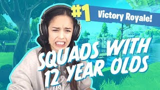 Playing with random 12 year olds XD - Valkyrae Fortnite