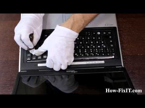 How to replace keyboard on Fujitsu Siemens Amilo Pi 2530, 2540 laptop