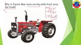 Why Rear Wheels are Bigger in Tractor- Mechanical Campus Interview Question (Question 19)
