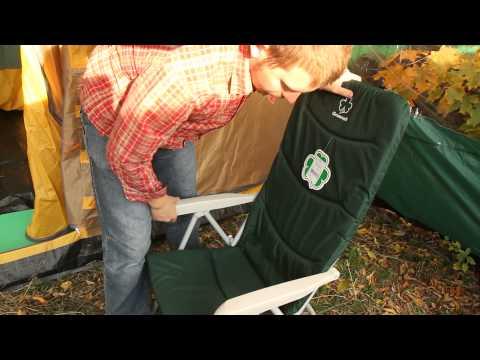 Кресло складное откидное Greenell FC-9. Видеообзор.