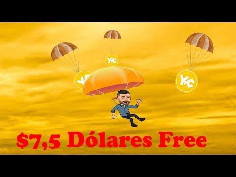$7.5 Dólares  no cadastro  YellowTradingCoin !