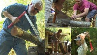 Steve Fagin's backyard lumberjack competition