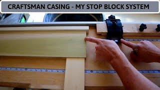 Craftsman Style Window & Door Casing - Maximize Efficiency With An Offset Stop Block