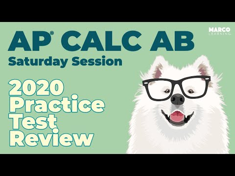 AP Calculus AB 2020 Practice Test Review with Michelle Krummel ...
