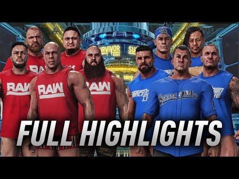RAW vs Smackdown Full Highlights - WWE Survivor Series 2017 - WWE 2K18