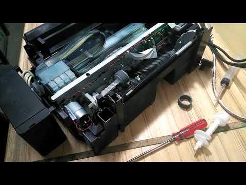 Инструкция по сборке и разборке epson L210 (замена ролика захвата бумаги)
