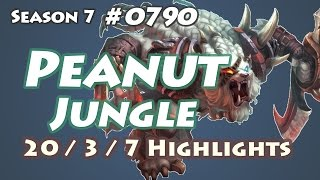 SKT T1 Peanut - Rengar Jungle - BR LOL Highlights | 렝가 정글
