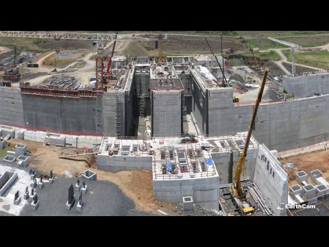 Time Lapse of the Panama Canal Expansion
