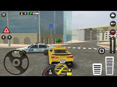 HQ Taxi Driving 3D #1 - Taxi Game Simulator Android IOS Gameplay
