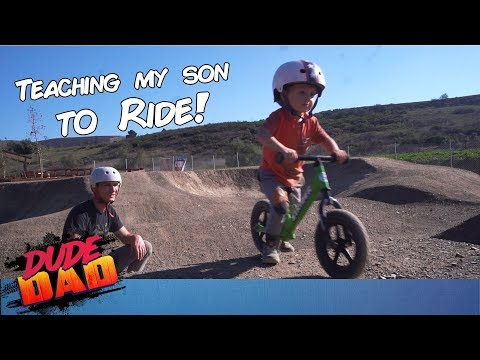My Toddler's first time at the Bike Park! | Dude Dad