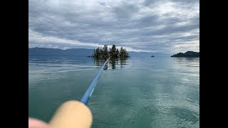 Fly fishing for lake trout - Flathead Lake October 2018