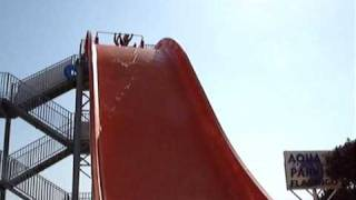 preview picture of video 'THE BIG ORANGE SLIDE WAVECOASTER AQUAPARK FLAMINGO WATERPARK LA SIESTA TORREVIEJA'