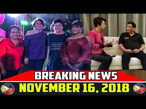BREAKING NEWS NOVEMBER 16 2018 | PRESIDENT DUTERTE | IMELDA MARCOS | MARTIAL LAW EXTENSION