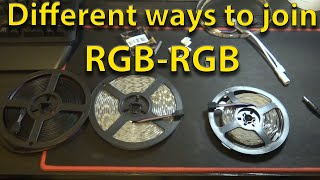 5 Different Ways to connect your RGB Light Strip (NO SOLDERING)