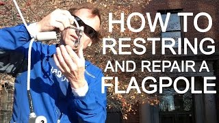 FlagDesk.com | How to replace flag pole rope (proper knot) and flag snap hooks