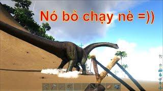 ARK: Thieves Island #6 - Hạ sát khủng long khổng lồ Brontosaurus bằng Ná =))